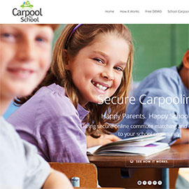 CarpooltoSchool Wordpress Website Design